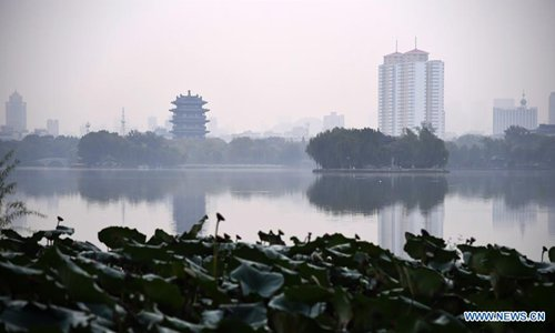 Scenery of Daming Lake in China's Shandong