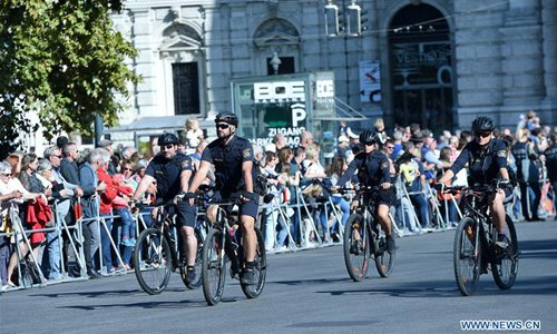 Grand parade held in Vienna to celebrate 150th anniversary of Vienna Police