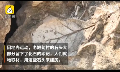 Ancient village's homes are made of rock fossils