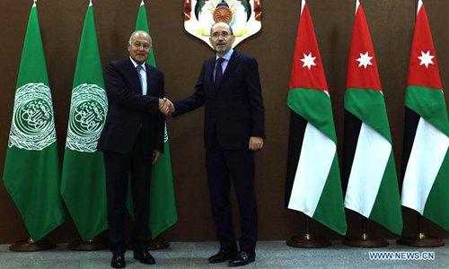 Jordanian FM meets with Arab League secretary-general in Amman