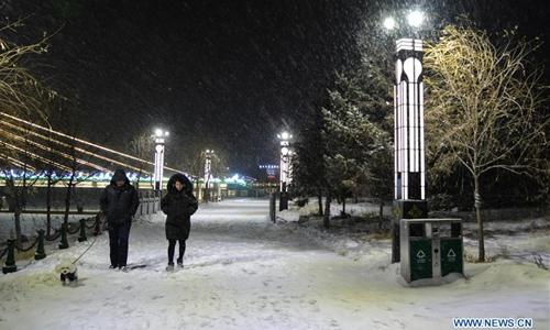 Snowfall hits China's Inner Mongolia
