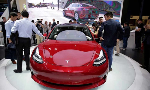 Shanghai-built Tesla popular in China after new tax break