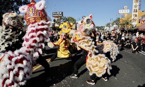 Golden Dragon Parade held in LA - Global Times