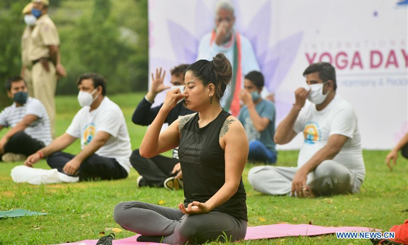 International Yoga Day marked in India - Global Times
