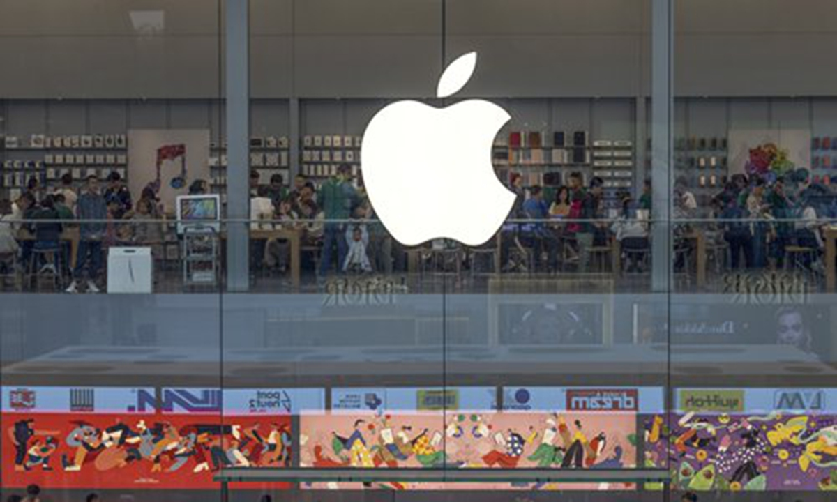 An Apple store in Chengdu, Southwest China's Sichuan Province. Photo: IC