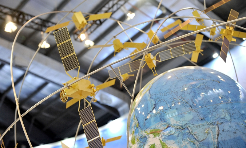 File photo of a model of the Beidou Satellite Navigation System.Photo:Xinhua