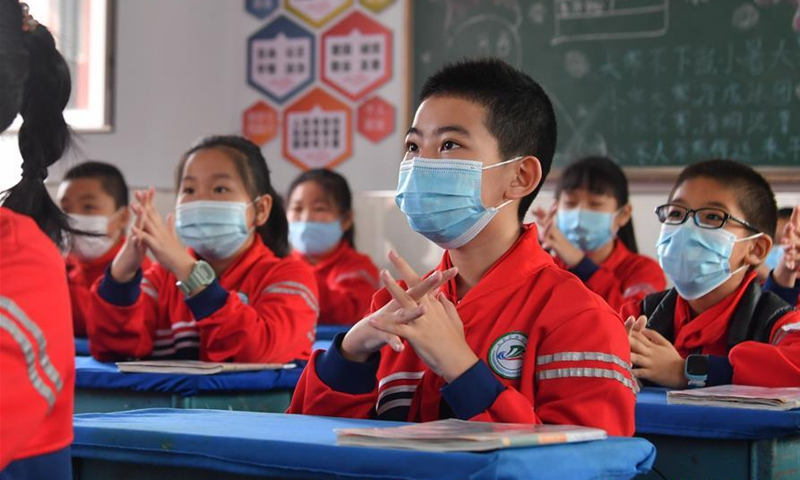 Students at a class in Hohhot, north China's Inner Mongolia Autonomous Region, May 7, 2020. Photo: Xinhua