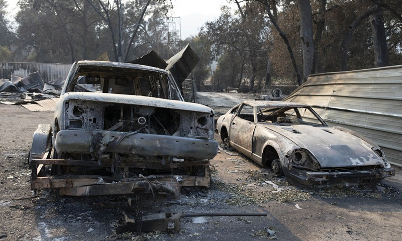 Wildfires devastate California wine country, scores flee