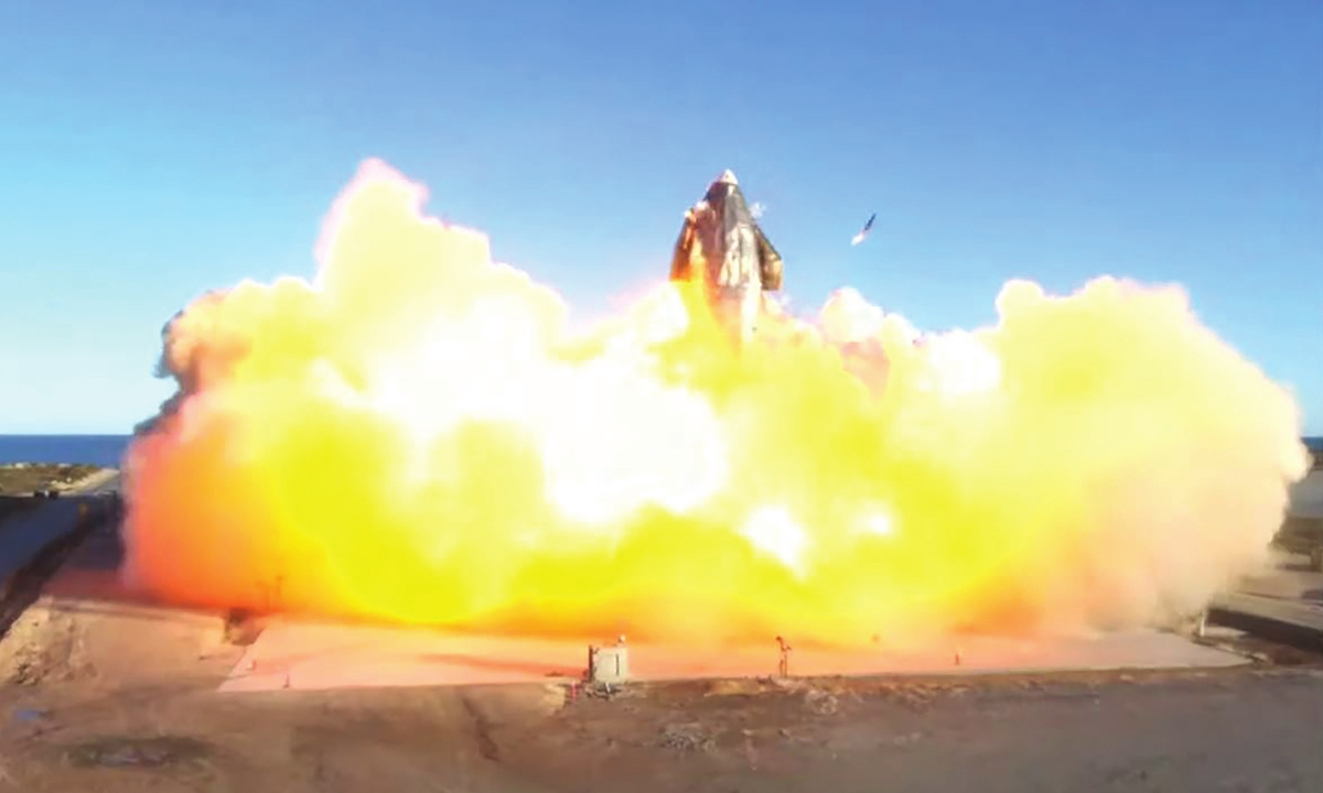 SpaceX prototype blasts off, crashes in fireball: livestream - Global Times