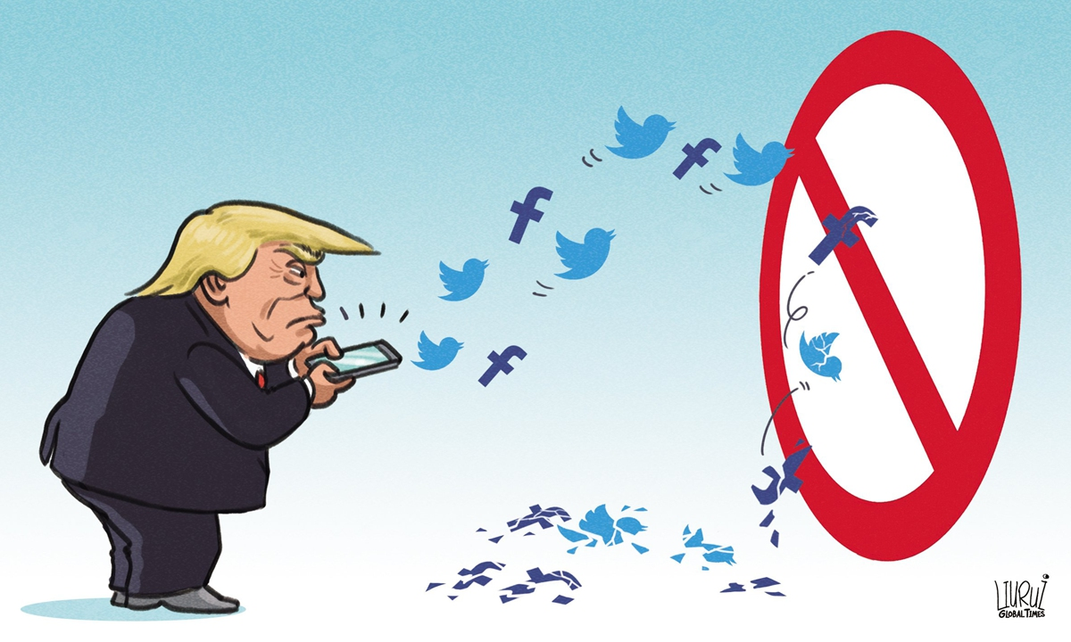 Twitter's suspension of Trump's account shows freedom of speech has boundaries in every society - Global Times