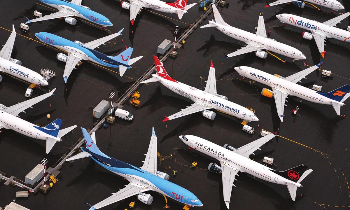 Boeing 737 Max airplanes Photo: VCG