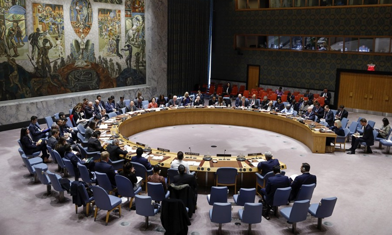 UN Security Council holds a meeting on the Iraq issue at the UN headquarters in New York, the United States, March 3, 2020.(Photo: Xinhua)