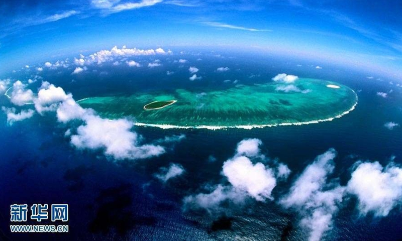 An aerial photo of the South China Sea. File photo: Xinhua