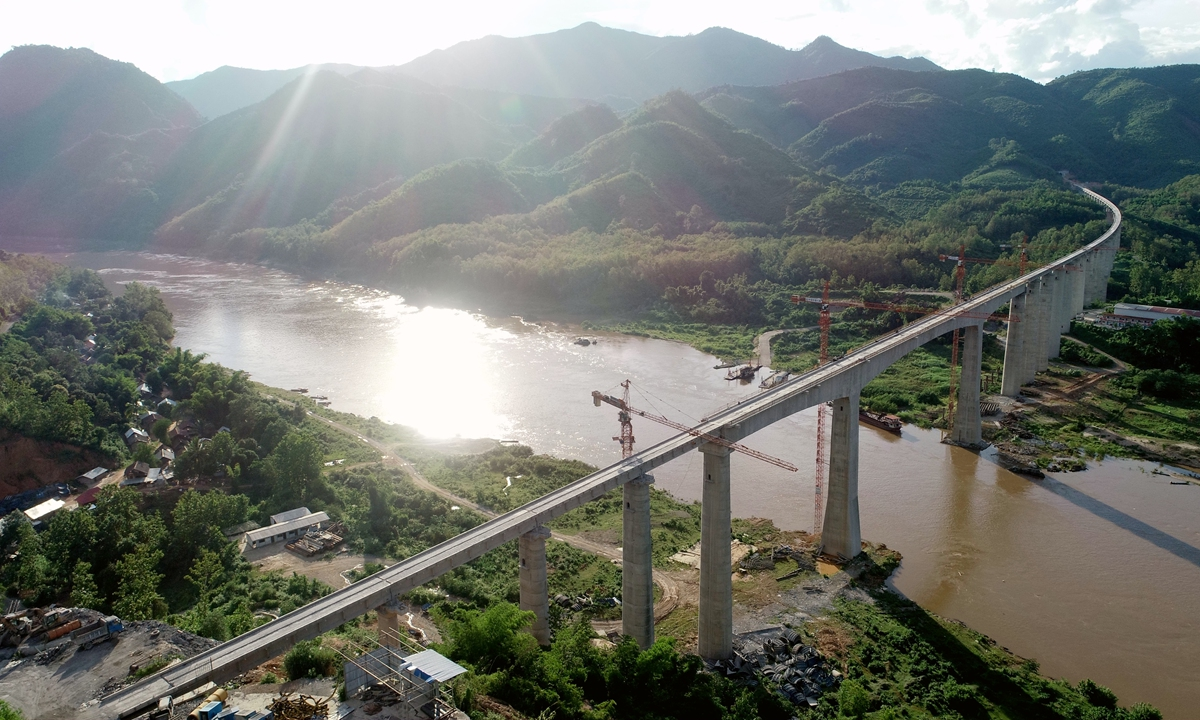 The Mekong River section in Laos Photo: Xinhua