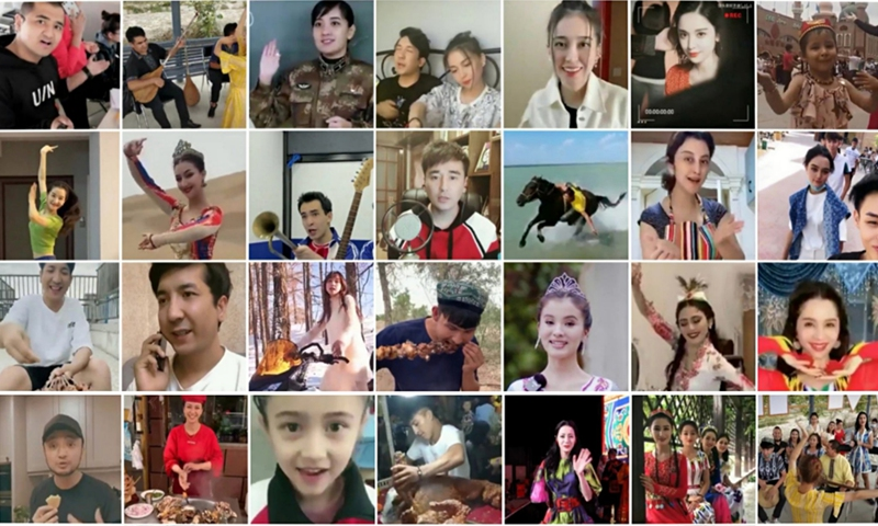 Photos Uygur people share on social media show their daily lives  Photo: screenshot of Twitter