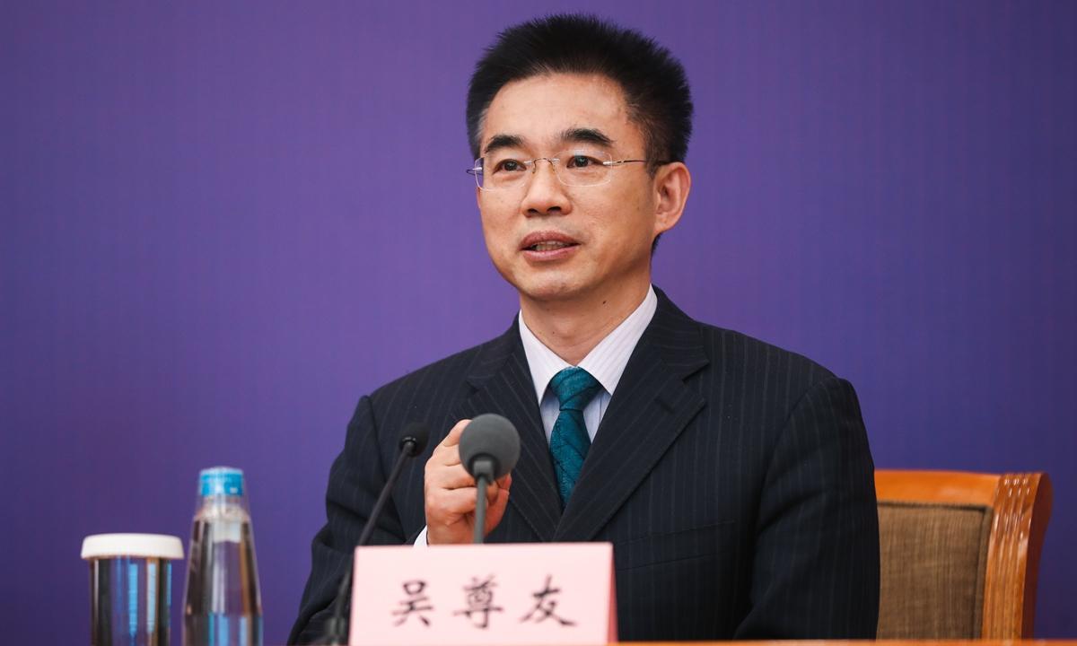 Wu Zunyou, China's CDC chief epidemiologist  Photo: cnsphoto