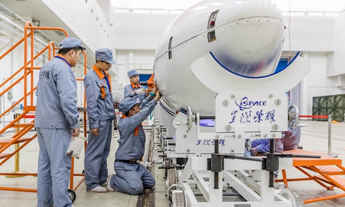 iSpace engineers prepare the company's first orbital carrier rocket. Photo: Courtesy of iSpace