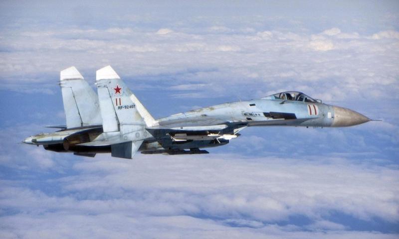 A file photo of a Russian Su-27 fighter(Photo: Xinhua)