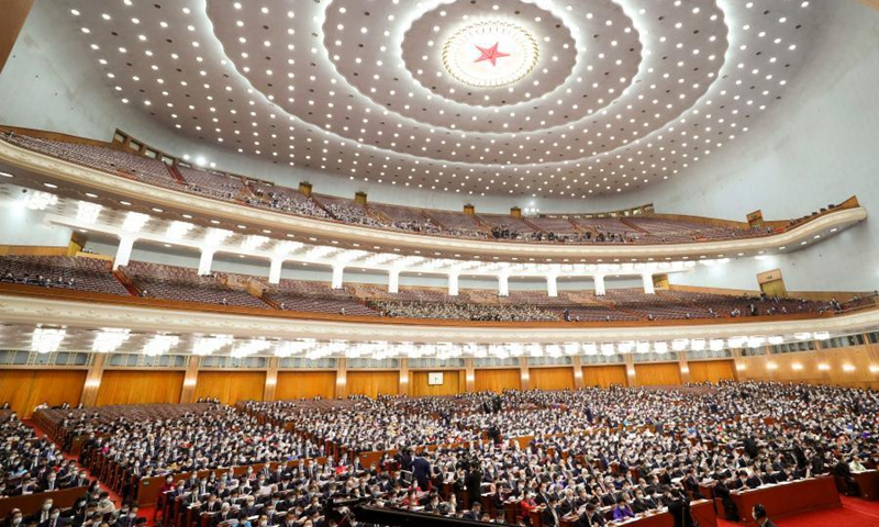The fourth session of the 13th National Committee of the Chinese People's Political Consultative Conference (CPPCC) opens at the Great Hall of the People in Beijing, capital of China, March 4, 2021. (Xinhua/Ju Peng)