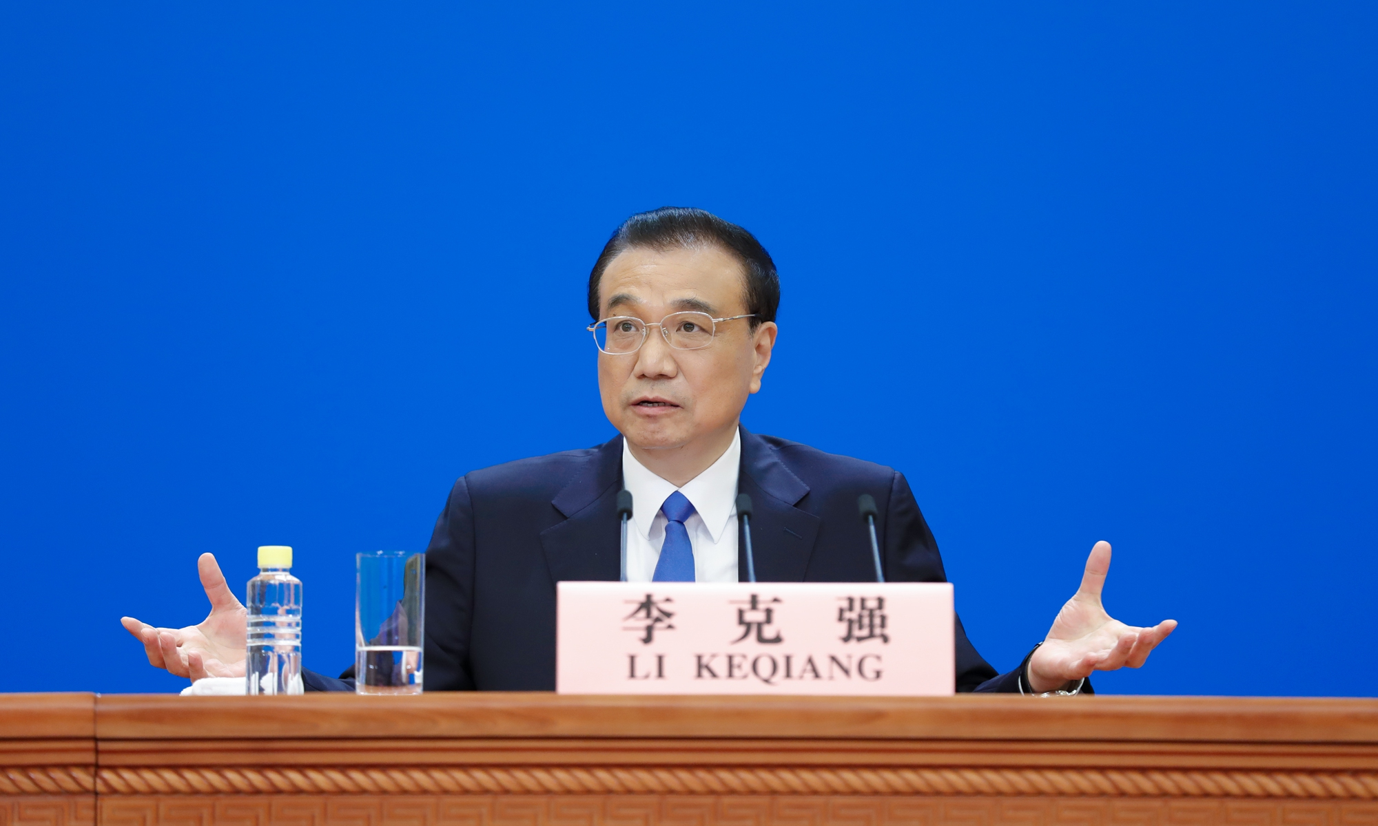 Chinese Premier Li Keqiang holds a press conference on Thursday.