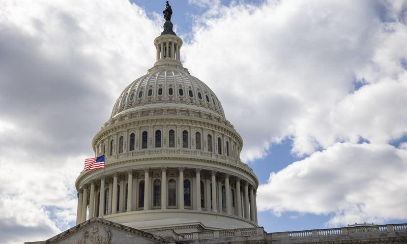 Photo taken on March 6, 2021 shows the U.S. Capitol building in Washington, D.C., the United States.(Photo: Xinhua)