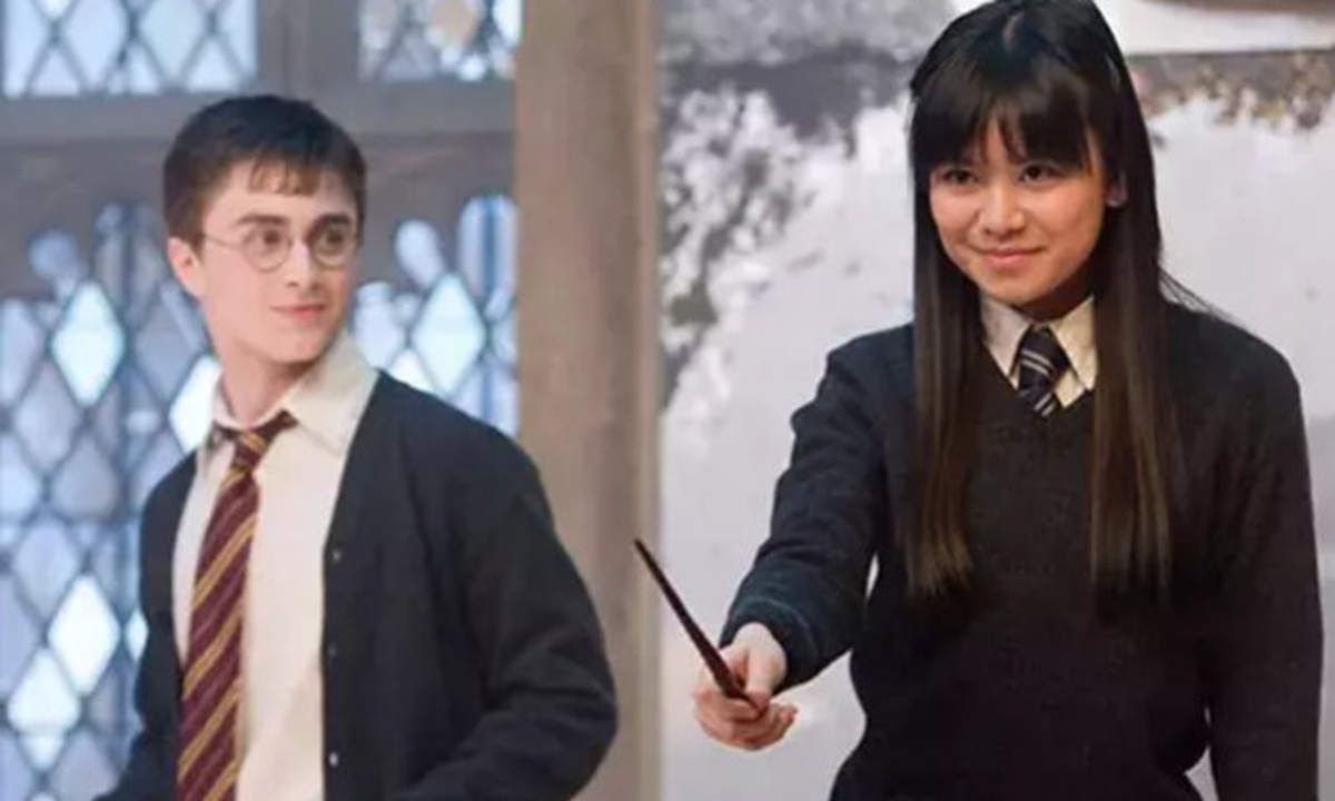 Harry Potter and Cho Chang in film. Photo: Weibo