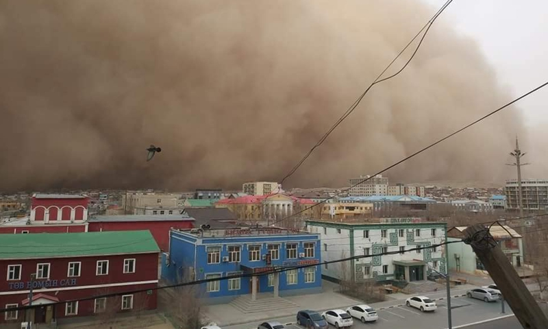Mongolia reported a strong snowstorm and sand dust weather over the weekend in multiple provinces. Photo: Ministry of Environment and Tourism of Mongolia