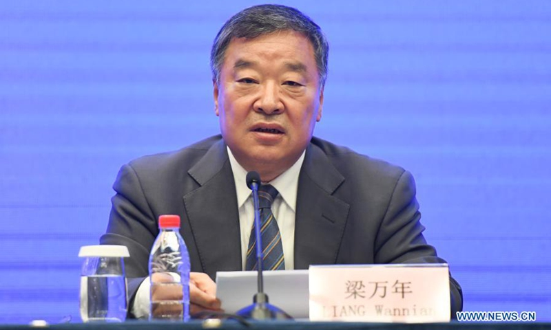 Liang Wannian, a member of the WHO-China joint study team, speaks at the WHO-China joint study press conference in Wuhan, central China's Hubei Province, Feb. 9, 2021. Photo:Xinhua