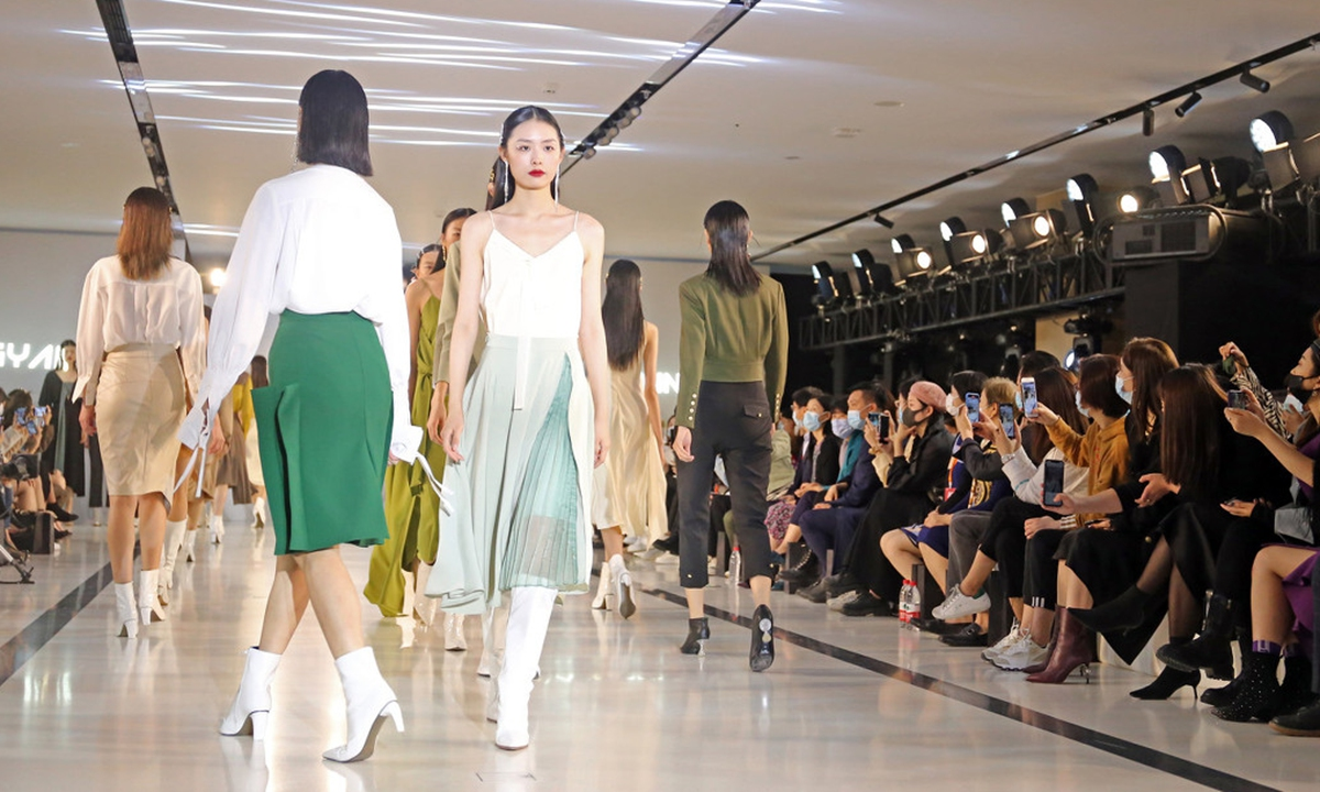 Shanghai Spring and Summer Fashion Week on October 21, 2020. Photo: IC