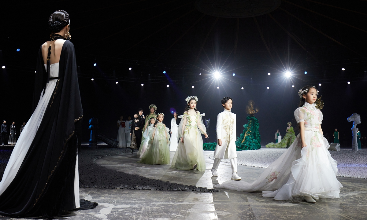 The Journey fashion show by Chinese designer Xiong Ying at the China International Fashion Week Photo: Courtesy of Yu Wang