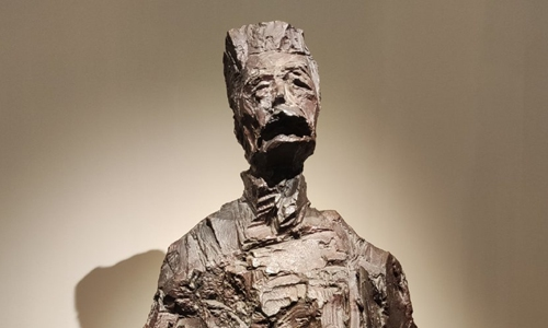 a sculpture of Chinese writer Zhou Shuren, better known by his penname Lu Xun. Photo: Sina Weibo