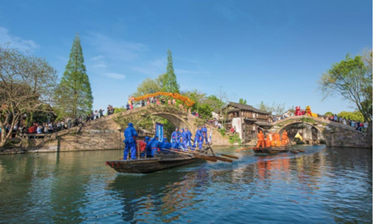 The Chinese folk market in Wuzhen, East China's Zhejiang Province Photo: Courtesy of Wuzhen