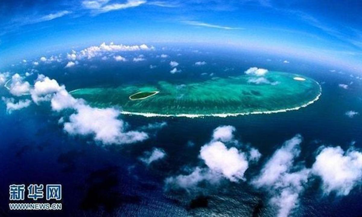 An aerial photo of the South China Sea. File photo: Xinhua
