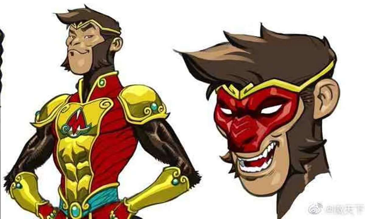A new superhero Monkey Prince from DC comic Photo: Sina Weibo