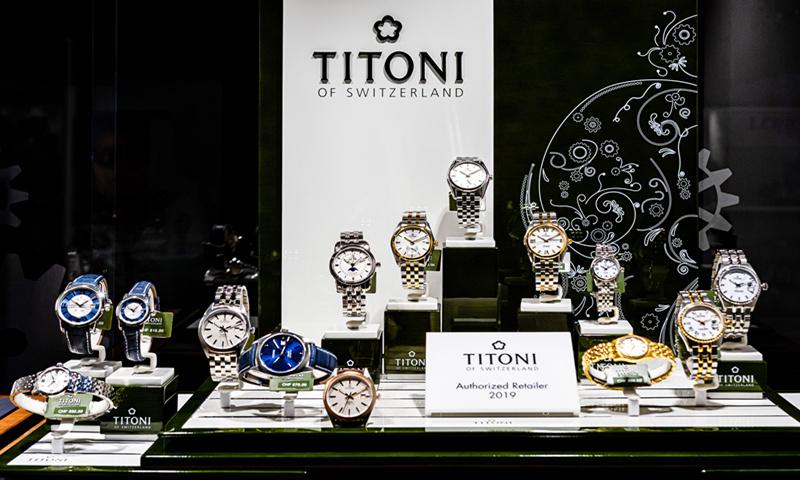 The window of a Titoni watch shop in Geneva, Switzerland Photo: VCG