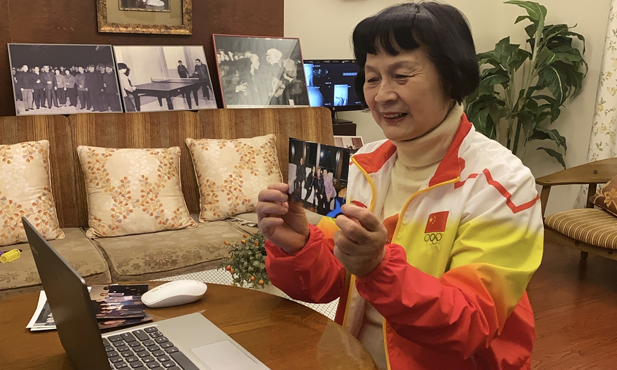 Zheng Minzhi talks with the Sweeris couple in a video call on April 9, 2021. (photo: Chen Xia/GT)