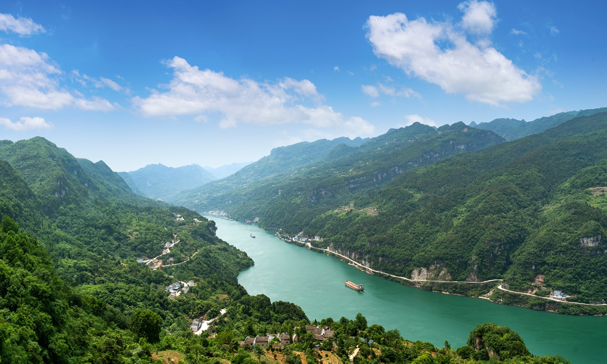 Xiling Gorge, located in Yichang, Central China's Hubei Province, is the longest of the Three Gorges. Photo: VCG