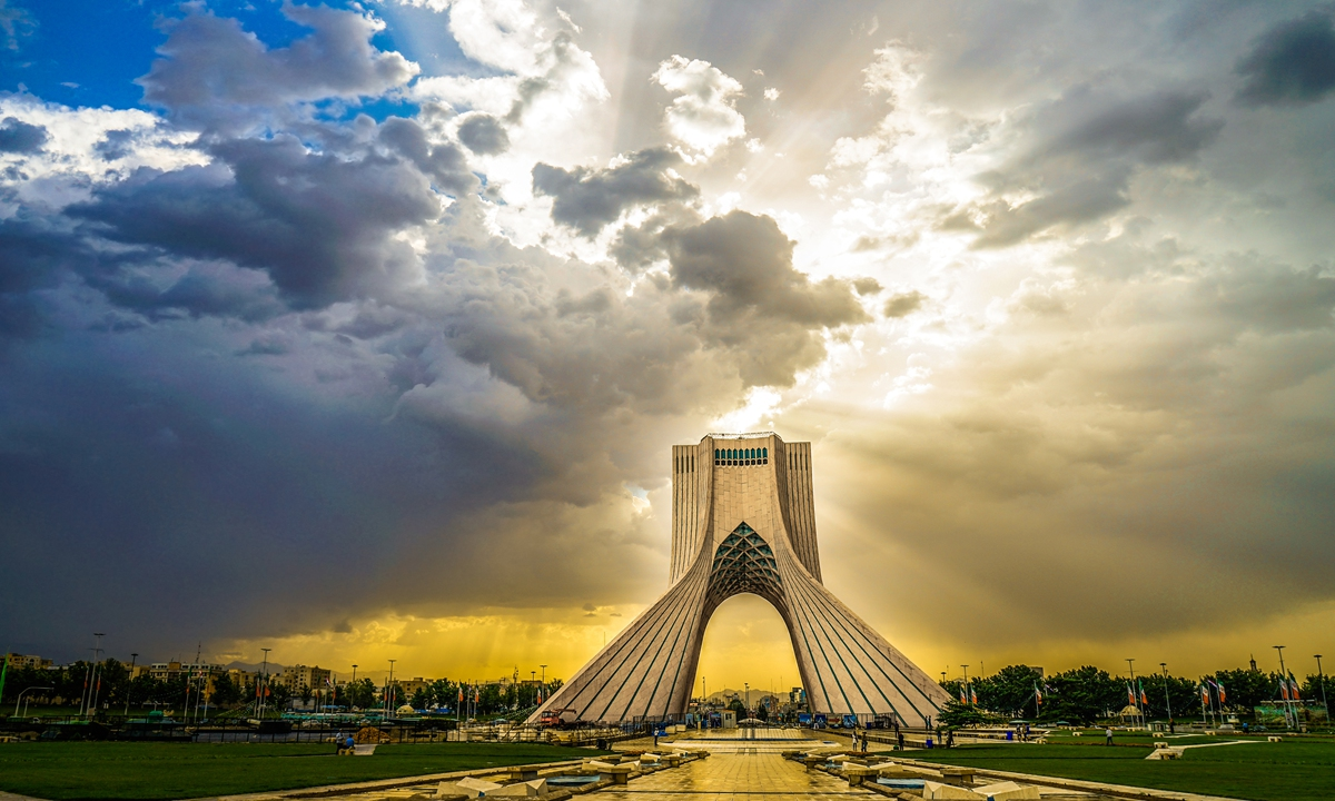Iran's landmark Azadi Tower, Tehran Photo: VCG