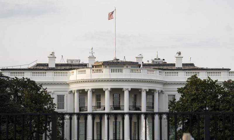 Photo taken on April 8, 2021 shows the White House in Washington, DC, the United States.Photo:Xinhua