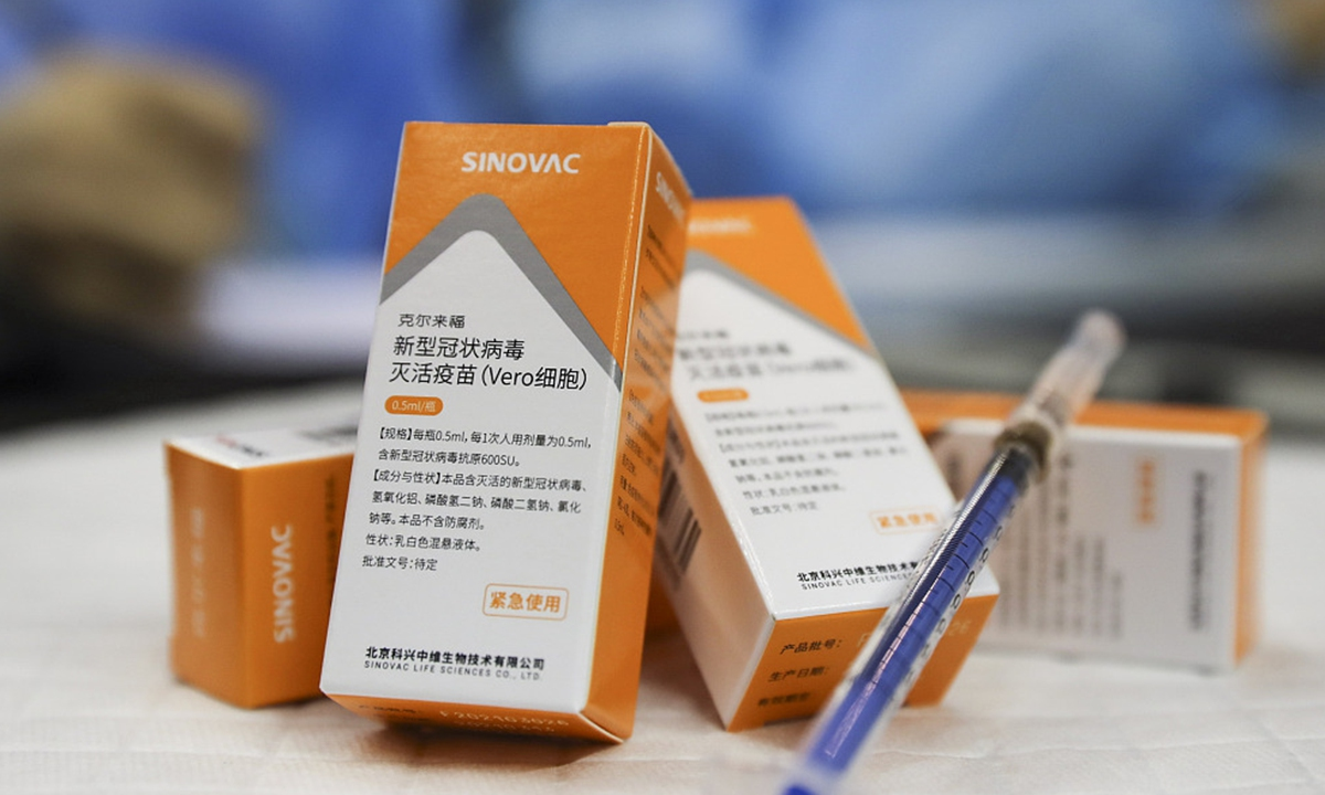 Sinovac vaccine 67% effective against symptomatic infection: Chile govt -  Global Times