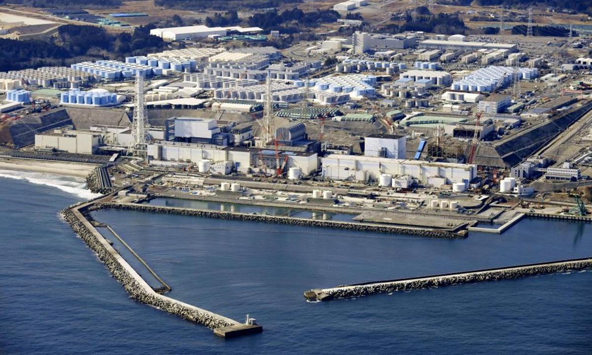 Tanks at the crippled Fukushima nuclear power plant store nuclear-contaminated wastewater. Photo: Xinhua
