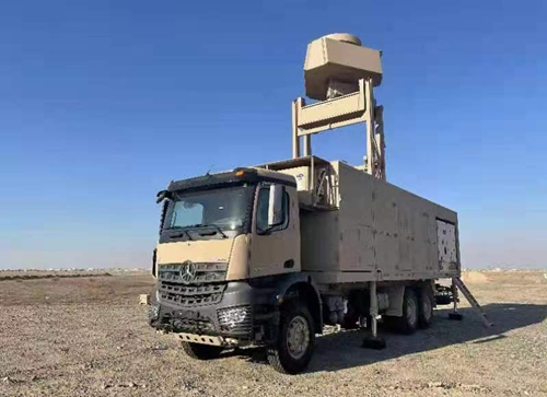 The S-band 3D TWA low-altitude surveillance radar developed by the No.38 Research Institute of CETC. Photo: Courtesy of CETC