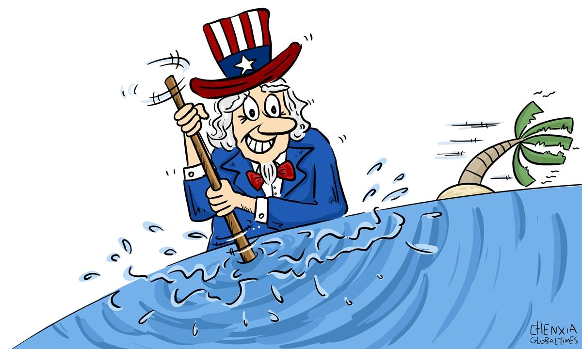 US, South China Sea Illustration: Chen Xia/GT