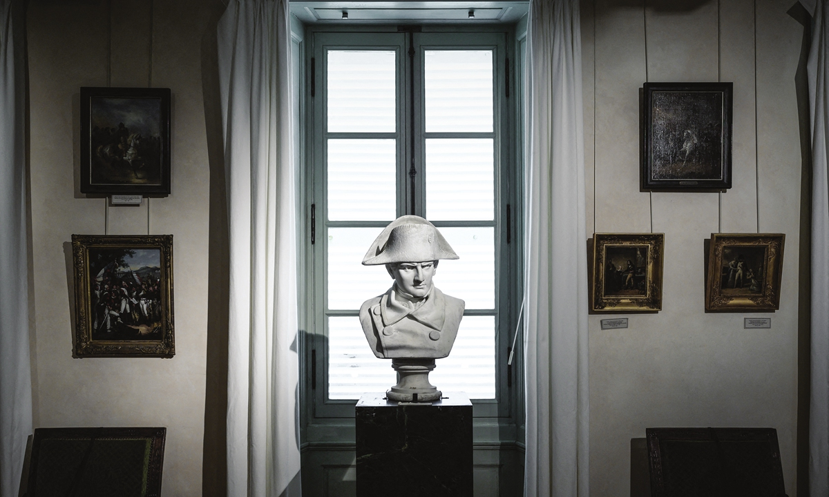 A bust of French Emperor Napoleon I Photo: AFP