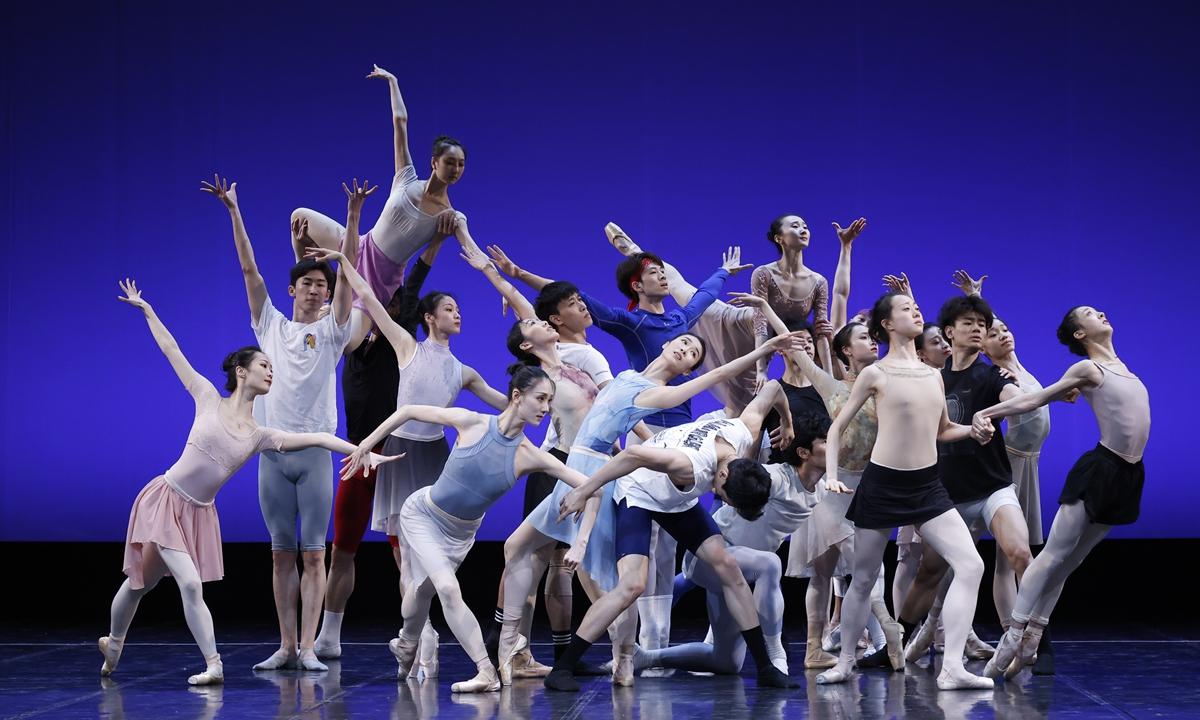 National Ballet of China dancers rehearse for <em>Century</em> on Wednesday. Photo: Courtesy of National Ballet of China