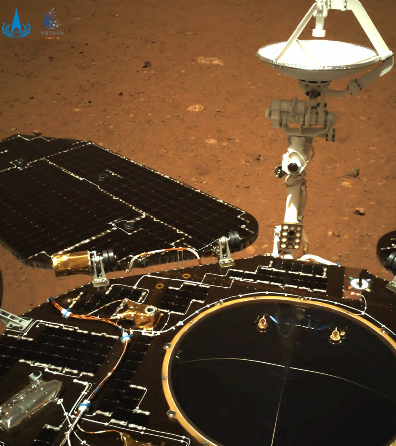 China's Zhurong rover sends back images from Mars. Photo: CNSA