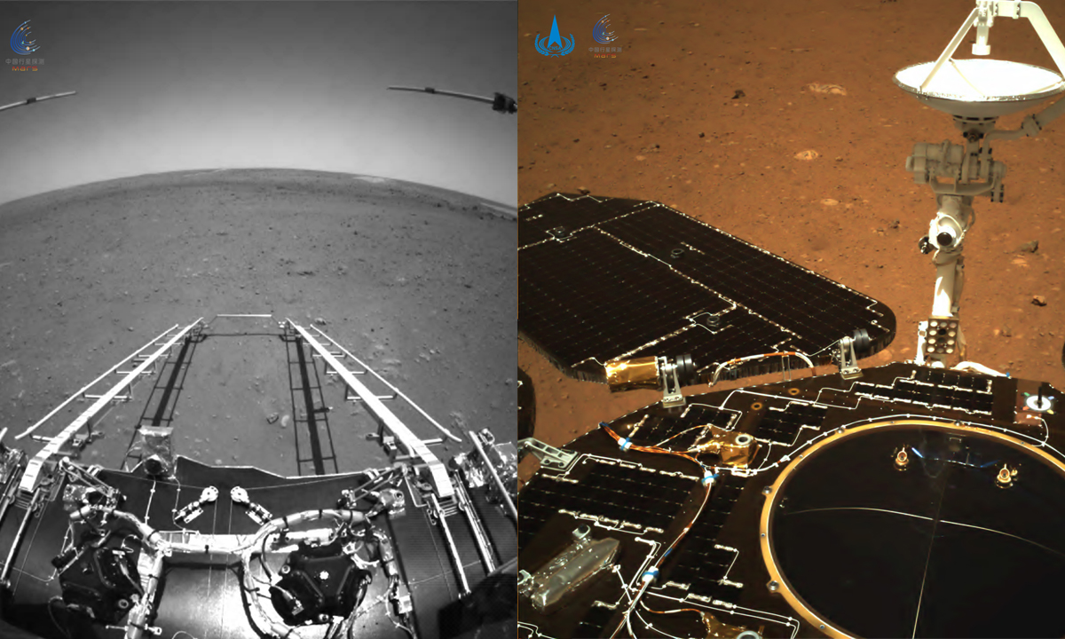 China's Zhurong rover sends back images from Mars. Photos: CNSA