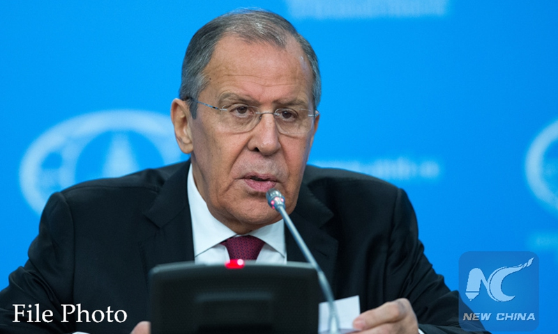 Russian Foreign Minister Sergei Lavrov speaks during his annual press conference in Moscow, capital of Russia. File Photo:Xinhua