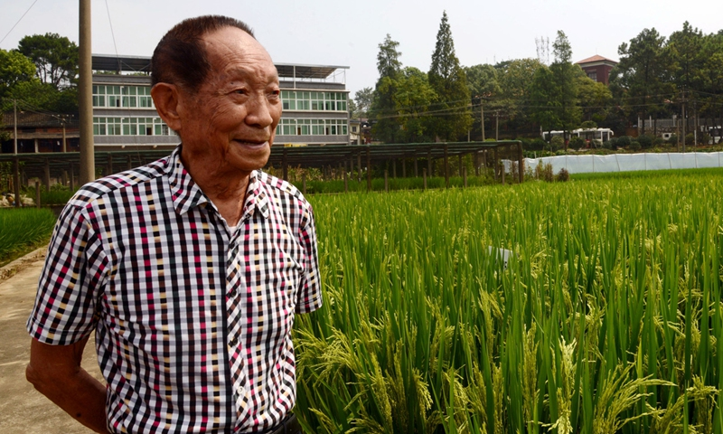 Yuan Longping is dubbed the Father of Hybrid Rice. Photo:Xinhua