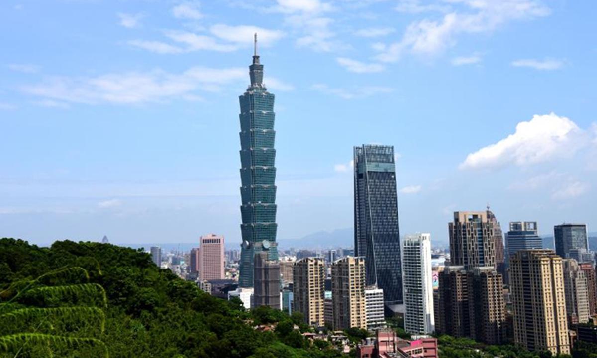 The Taipei 101 skyscraper in Taipei, southeast China's Taiwan. Photo: Xinhua
